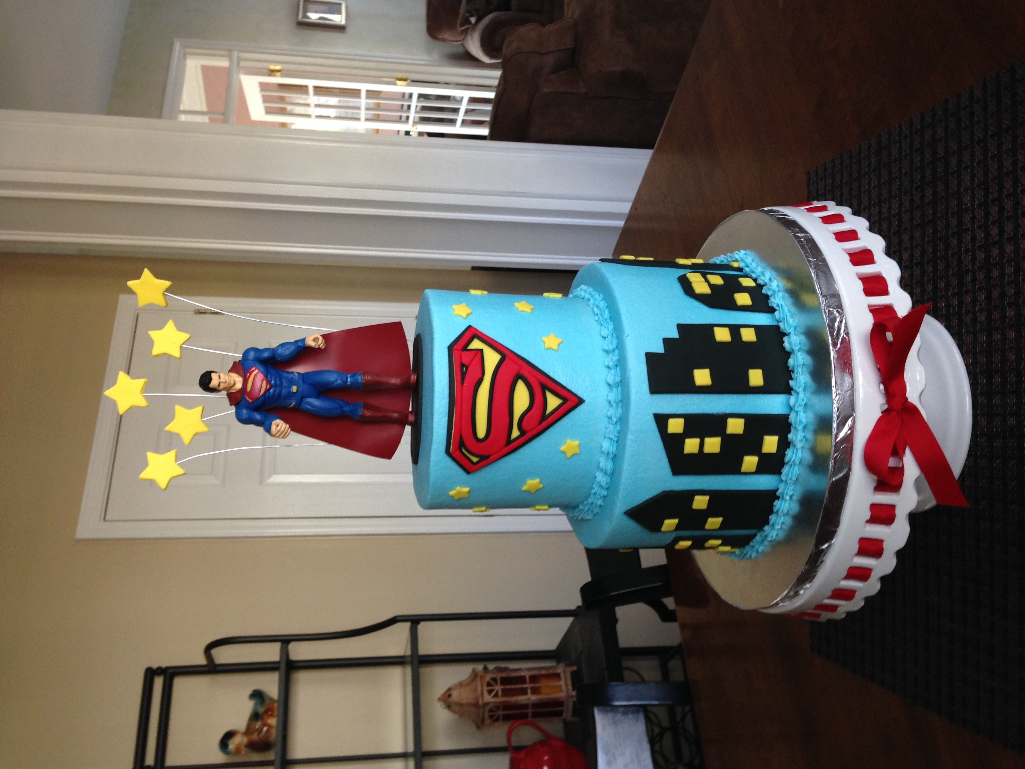 Superman Cake I made this Superman cake for my son-in-law's birthday.
