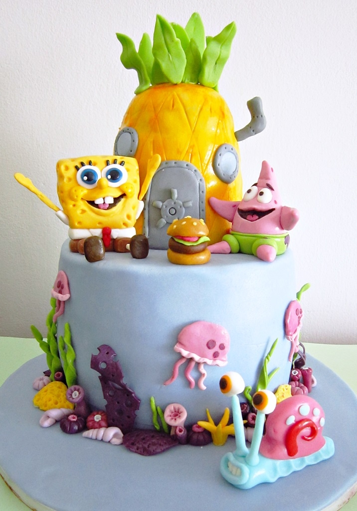 Spongebob, Patric And Gary SpongeBob boy birthday cake