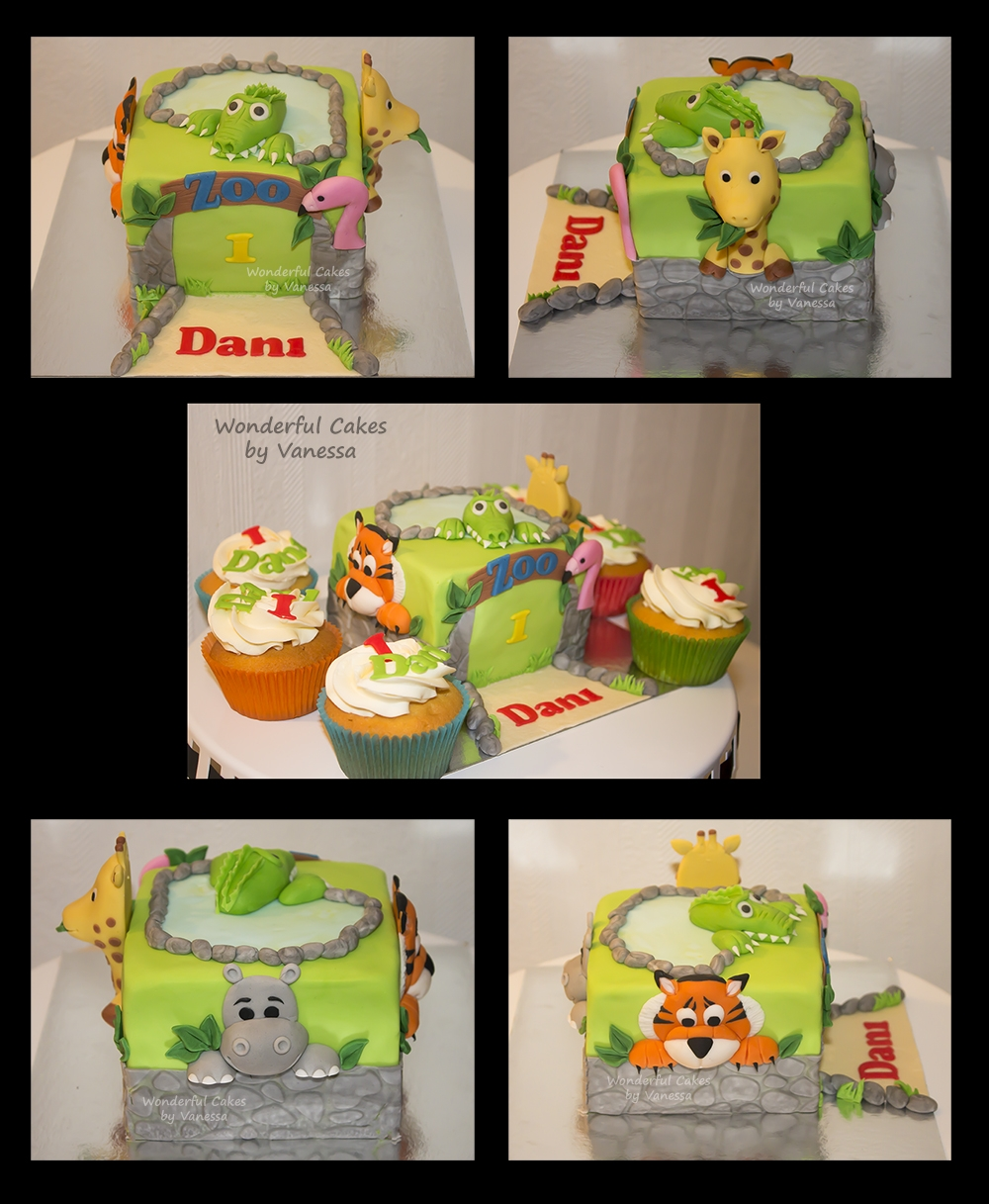 Zoo Smash Cake The famous 'zoo cake' (original is from the book of Wendy Schlagwein) in a mini version, like a little smash cake for birthday...