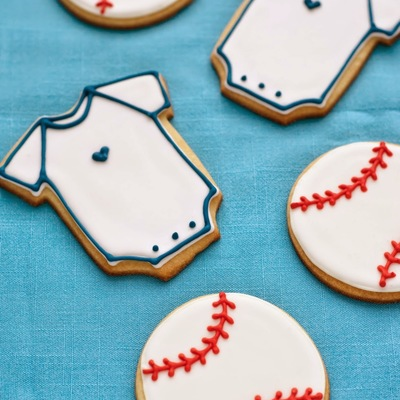 Baseball Cookies And Onesie Cookies on Cake Central