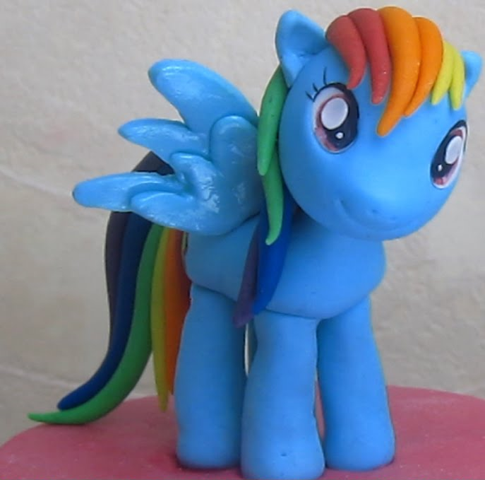 "Rainbow Dash From ""my Little Pony"" Cake Topper"