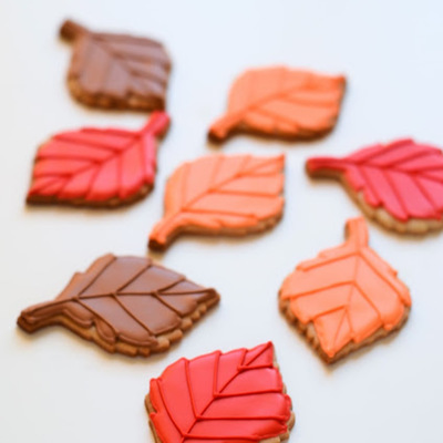 Leaf Cookies In Fall Colors on Cake Central