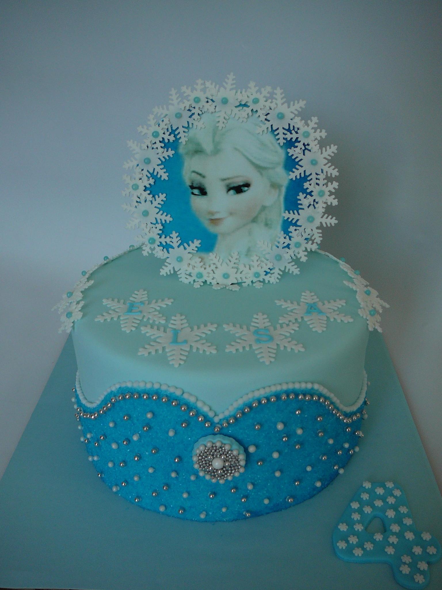 Fondant Elsa Cake Decorating Photos