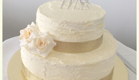 Mrs  Buttercream Cake Decorating : Rustic Buttercream Wedding Cake - CakeCentral.com