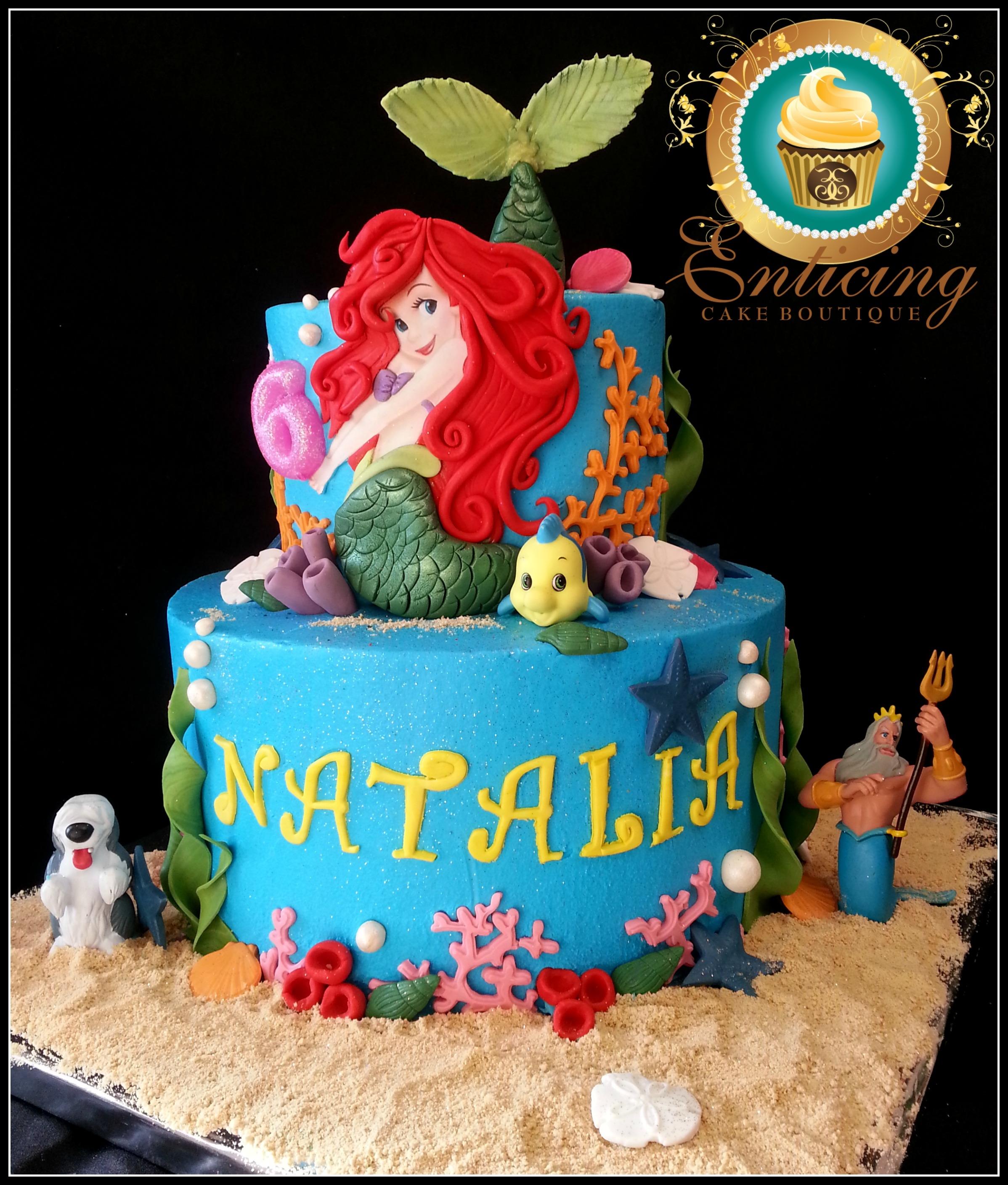 Tremendous Little Mermaid Birthday Cake Cakecentral Com Funny Birthday Cards Online Elaedamsfinfo