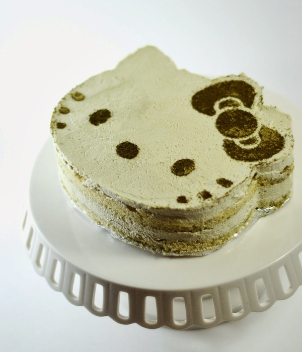 Hello Kitty Matcha Green Tea Tiramisu Cake