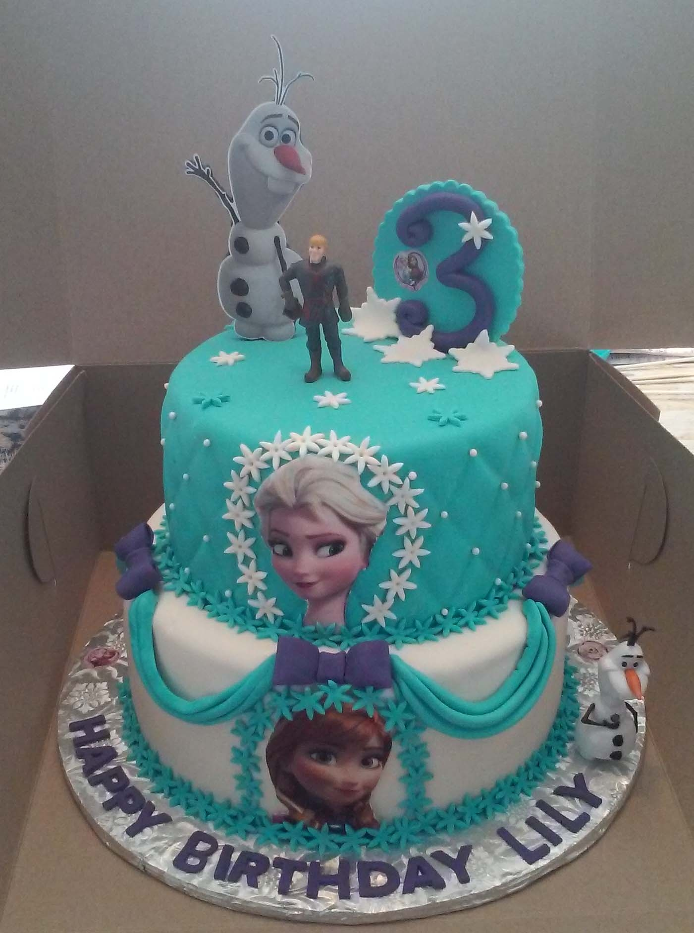 2 Tier Elsa And Anna Frozen Themed Birthday Cake CakeCentralcom
