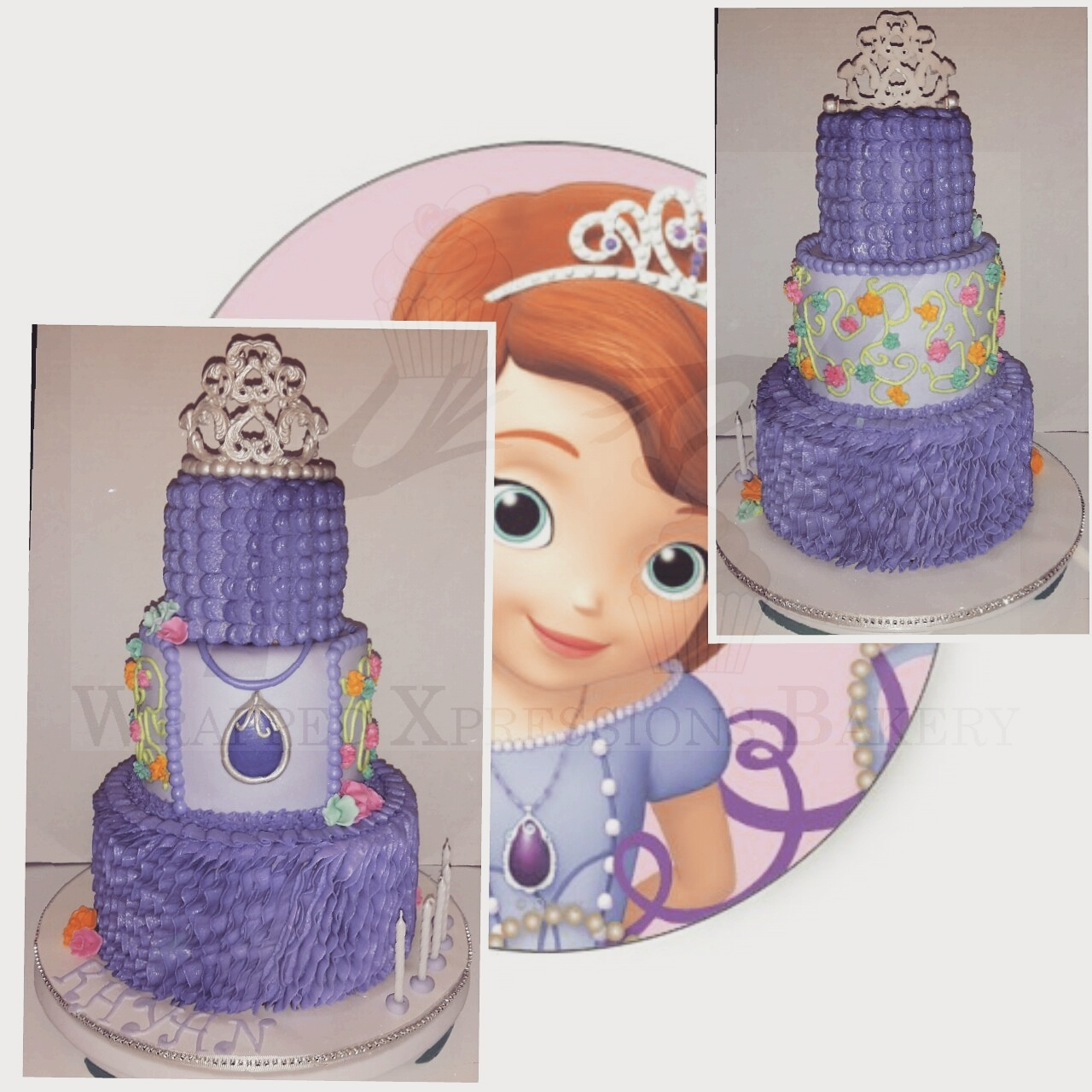 Groovy 3 Tier Sofia The First Birthday Cake Cakecentral Com Personalised Birthday Cards Arneslily Jamesorg