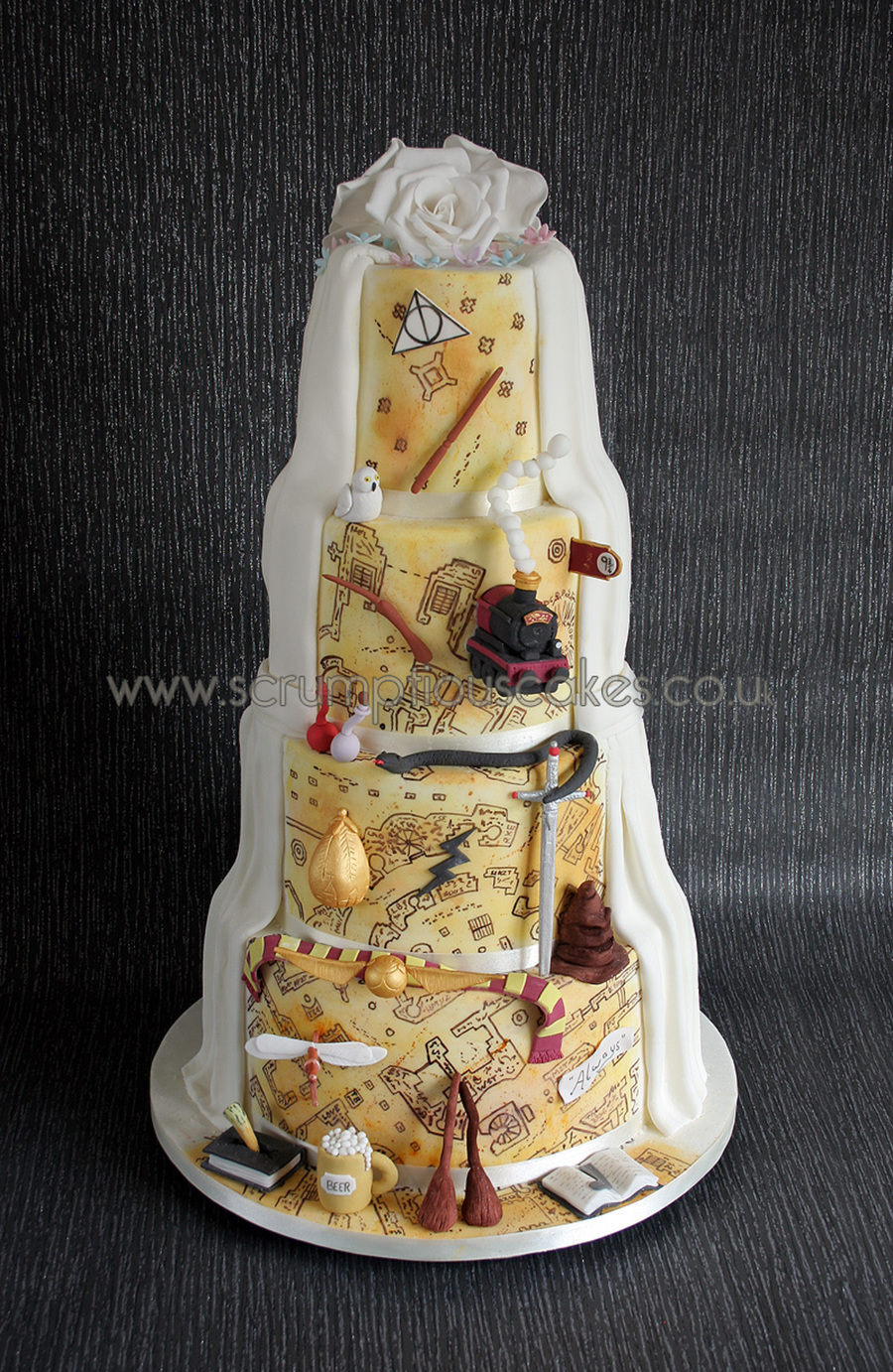Harry Potter Wedding Cake - CakeCentral.com