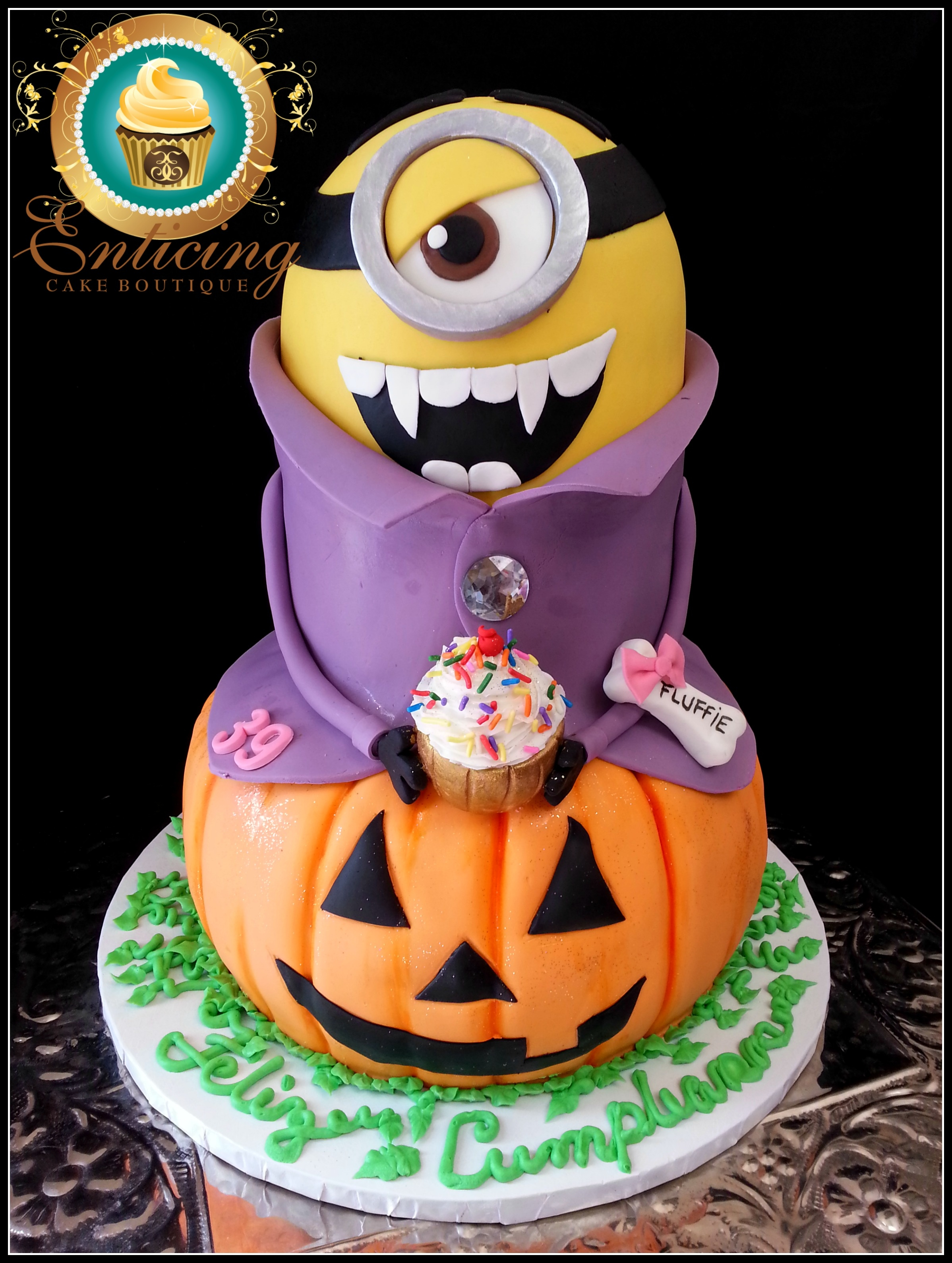 3D Minion Halloween Dracula Madness on Cake Central