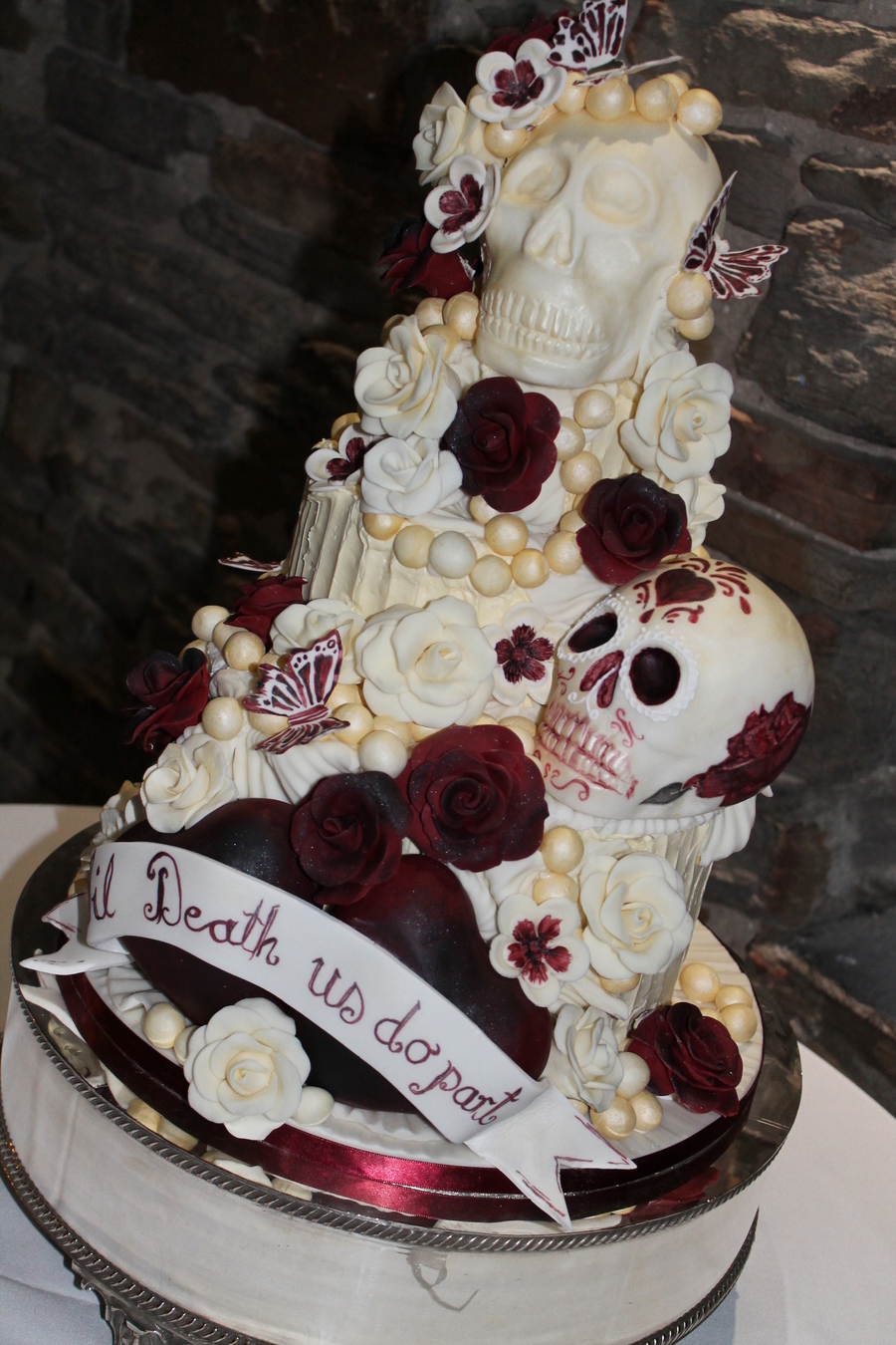 Halloween Wedding Cake Cakecentral Com