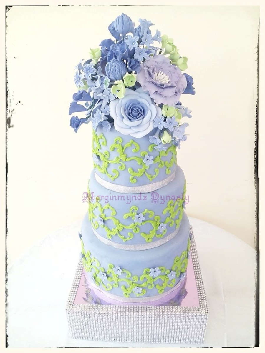 purple and lime green wedding cakes 3 tier purple and lime green wedding cake cakecentral 18862