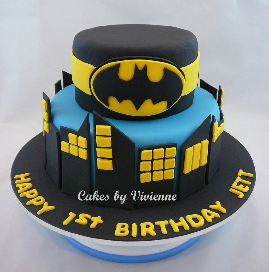 Batman Cake on birthday cupcake ideas
