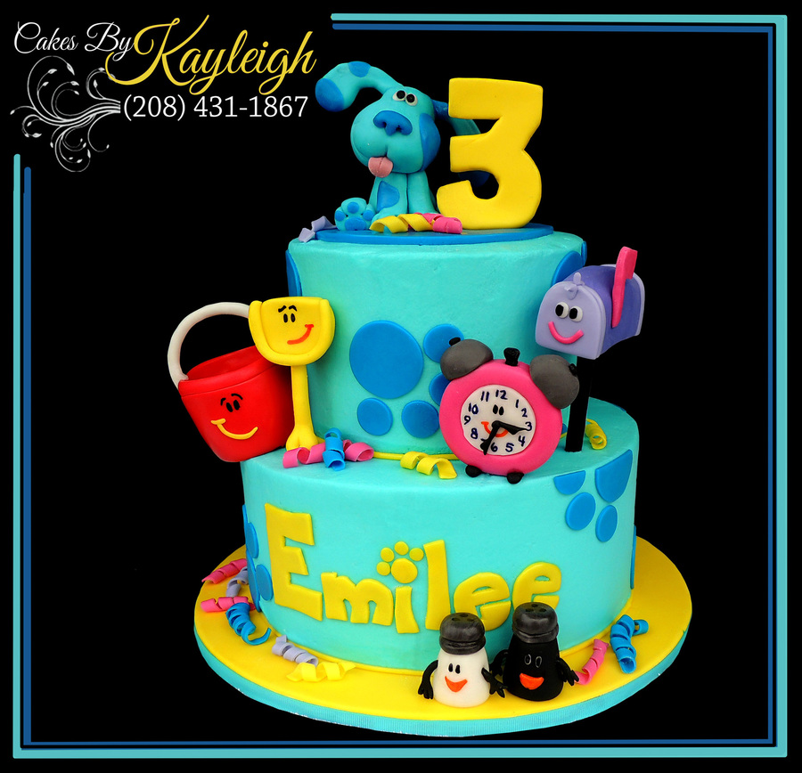 Groovy Blues Clues Birthday Cake Cakecentral Com Personalised Birthday Cards Fashionlily Jamesorg