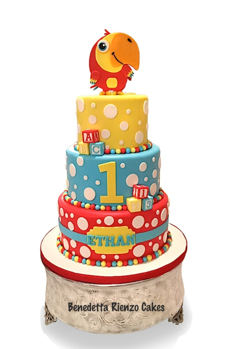 Vocabularry First Birthday Cake on Cake Central