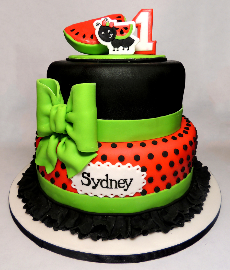 Watermelon Birthday Cake on Cake Central