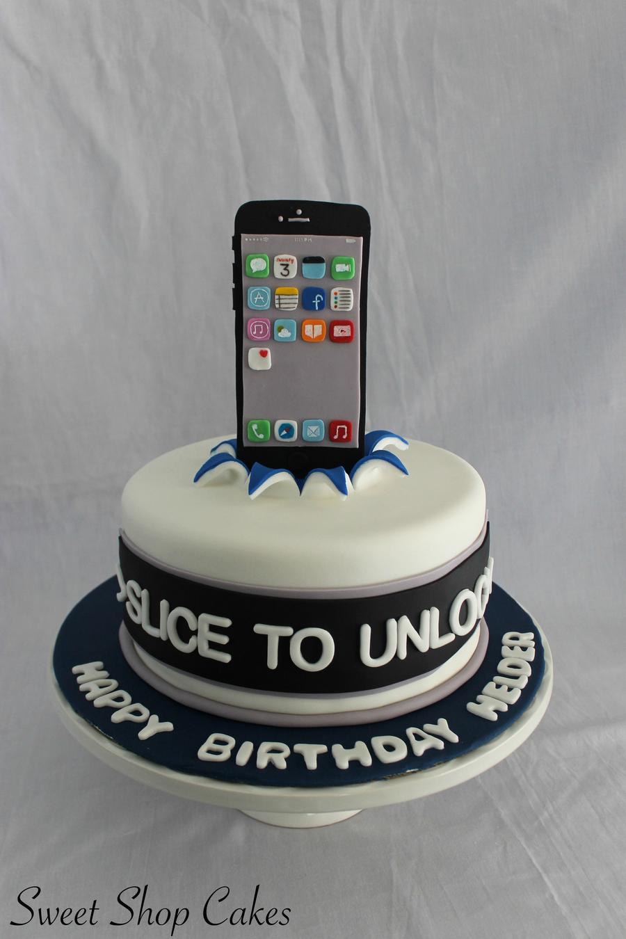 Iphone Cake Decorating Ideas