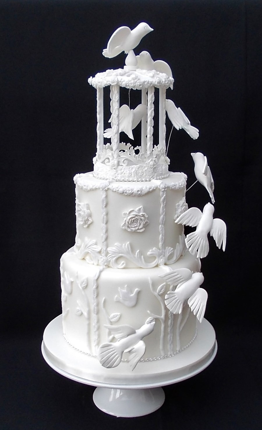 bird cage wedding cake bird cage wedding cake cakecentral 11776