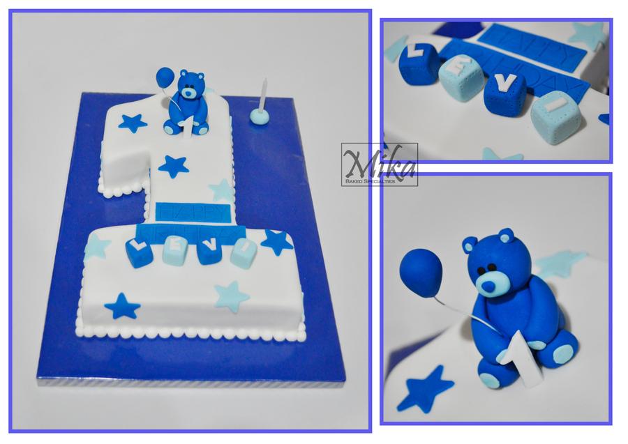 Amazing 1St Birthday Cake Boy Cakecentral Com Personalised Birthday Cards Petedlily Jamesorg