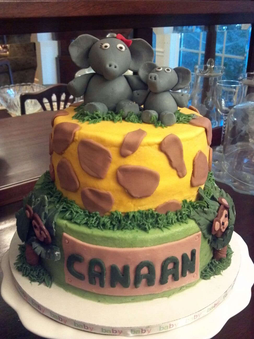 Baby Shower Safari Cake On Cake Central