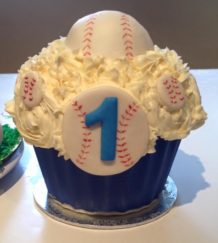 Baseball Themed Cake And Smash Cake CakeCentralcom
