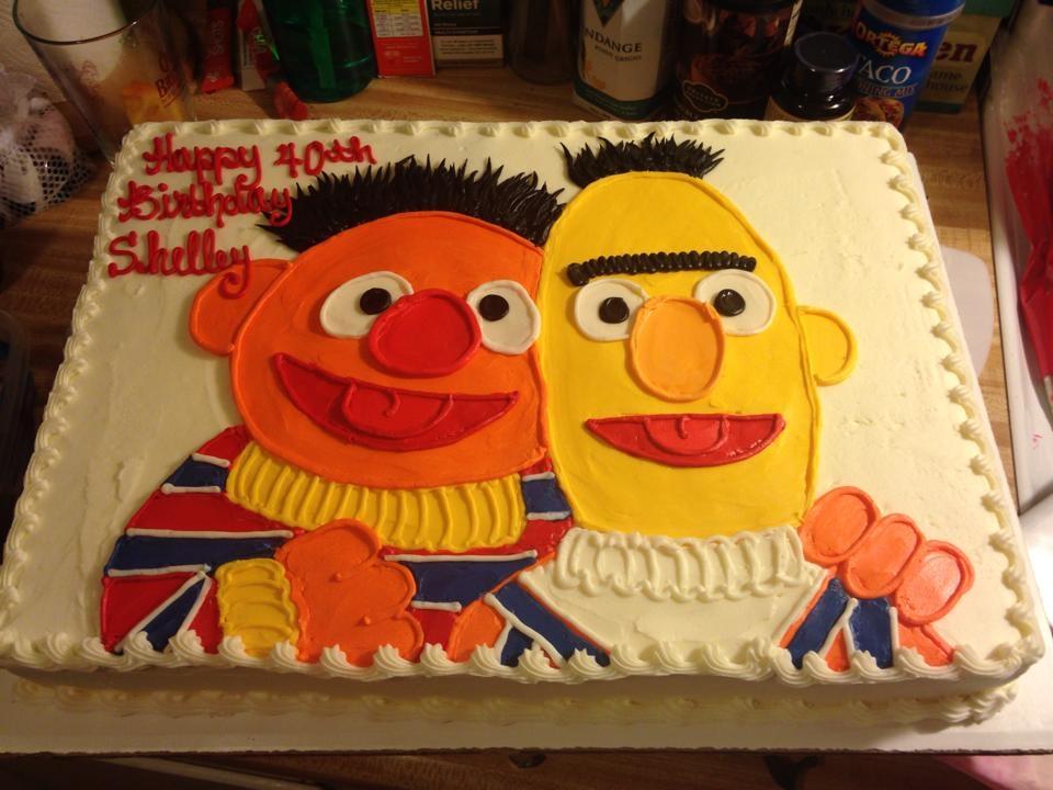 Sesame Street Bert Ernie Cake