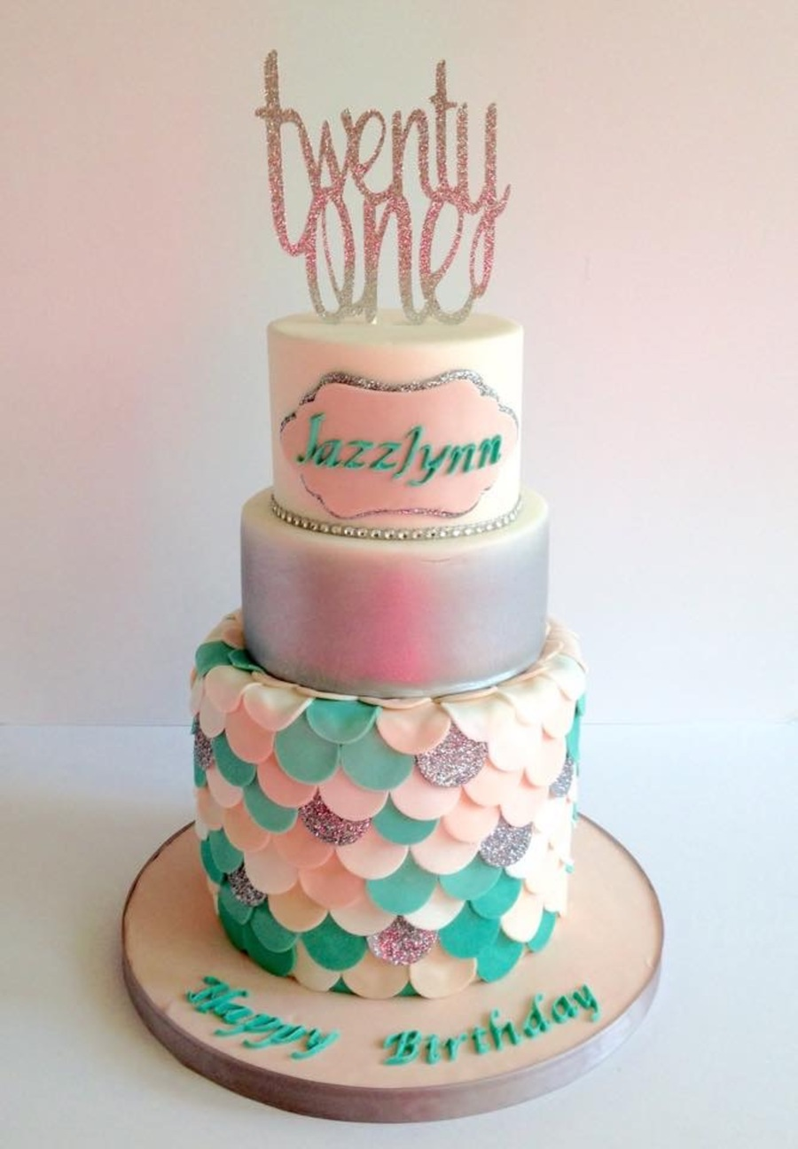 Mermaid Cake 21St Birthday CakeCentralcom