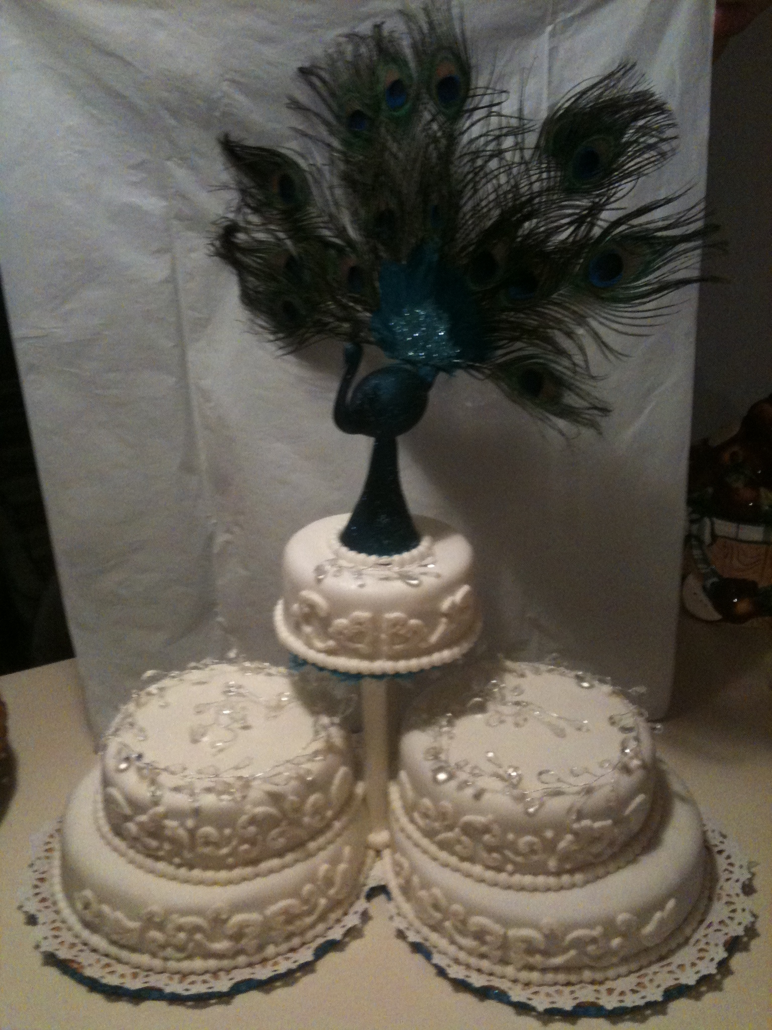 Cake Decor Hobby Lobby : Peacock Wedding - CakeCentral.com