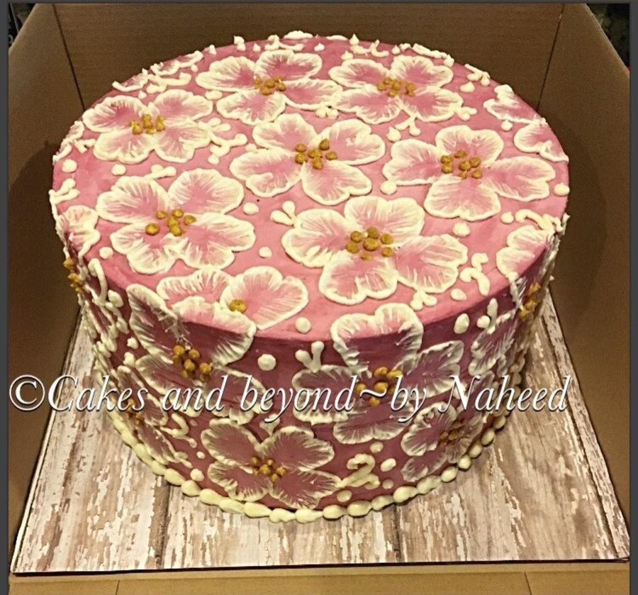 Brush Embroidery Cake  CakeCentral