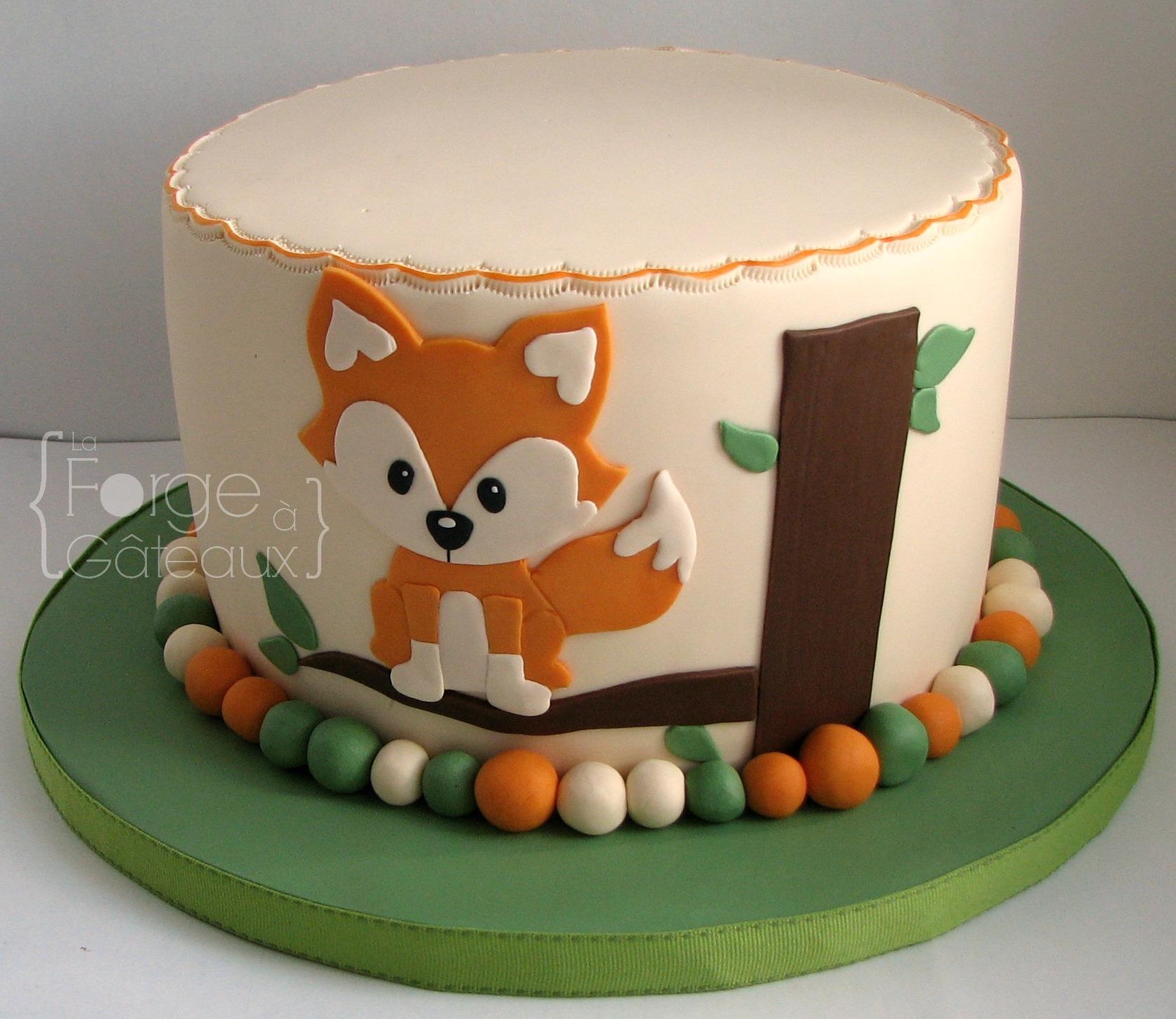 Baby Fox Animal Cake