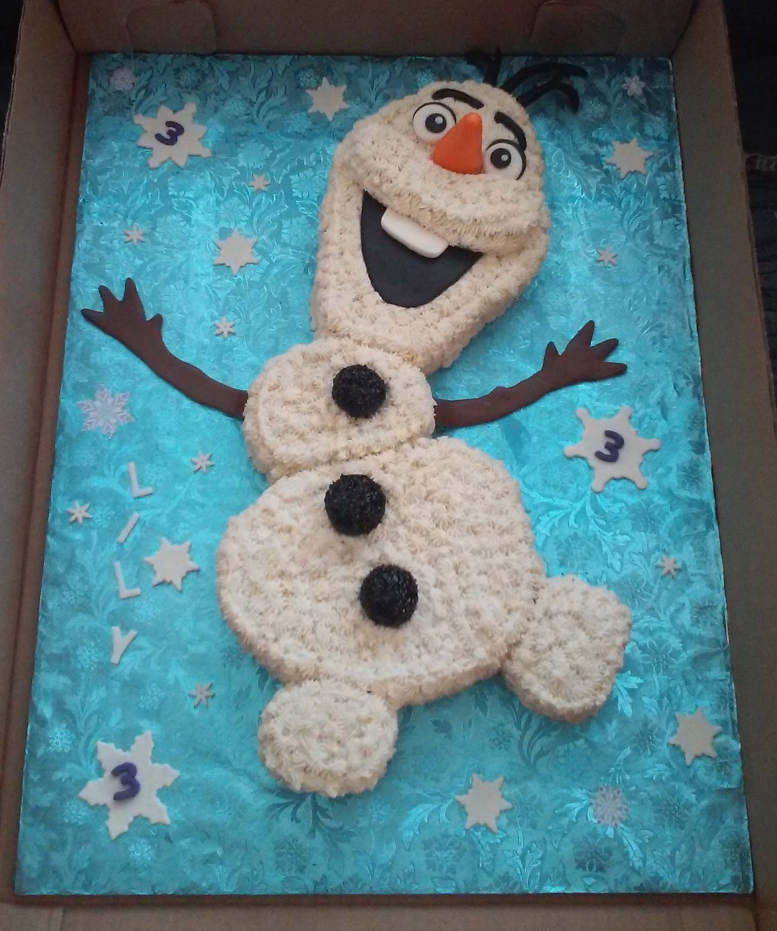 Frozen Olaf Themed Birthday Cake - CakeCentral.com