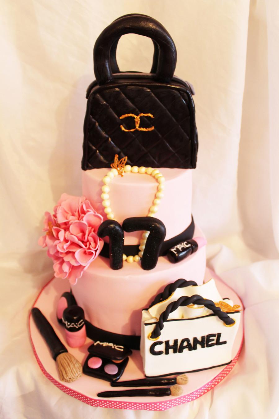 Mac Make Up Girly Cake Cakecentral Com