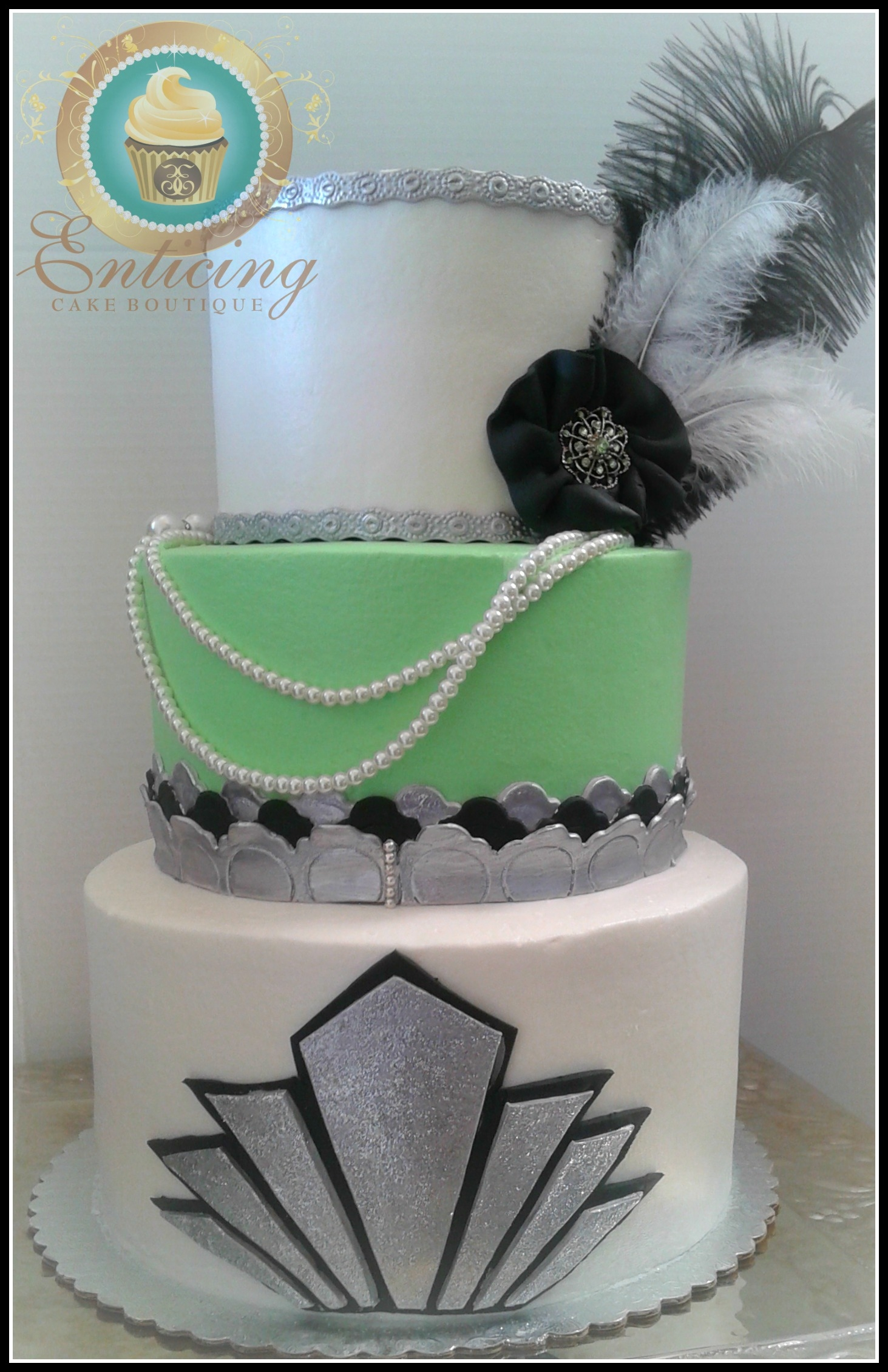 Art Deco Cake Decorations : Gatsby Art Deco Wedding Cake - CakeCentral.com