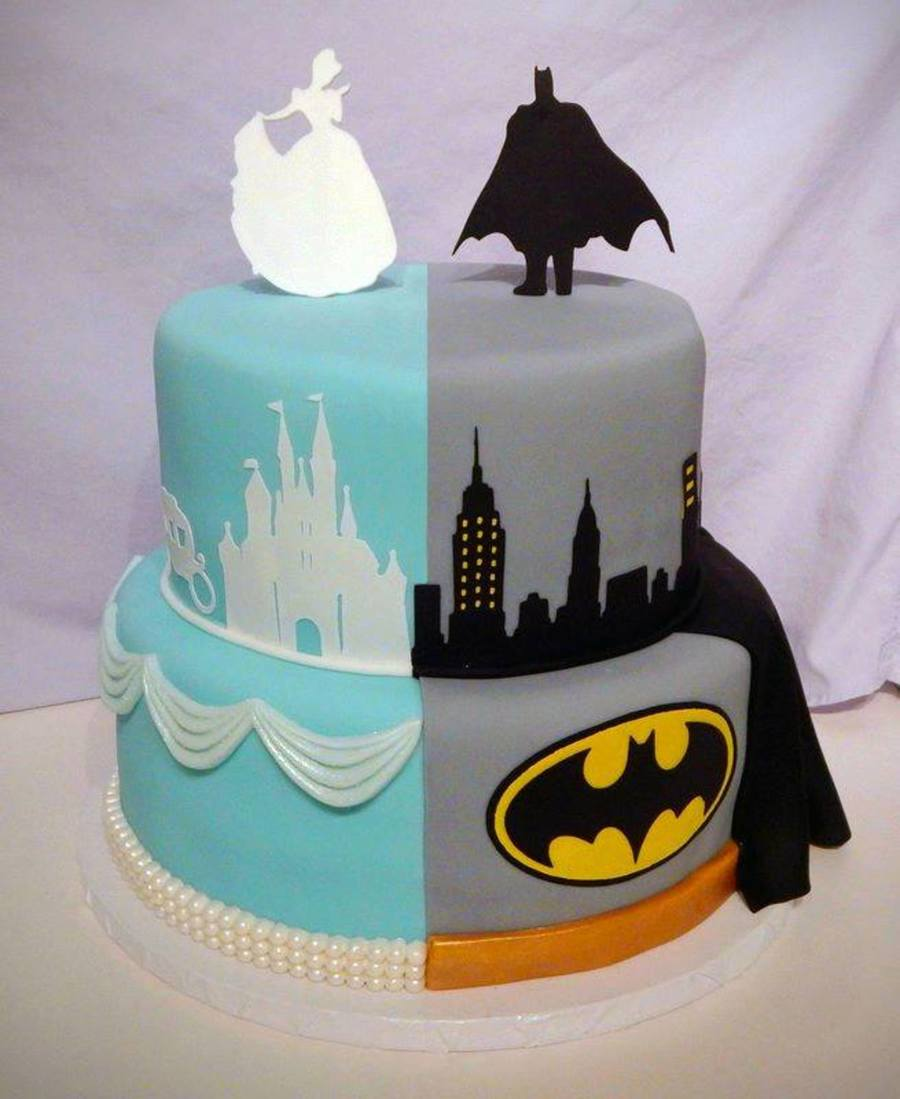 Batman Cinderella Cake For Twins Cakecentral Com