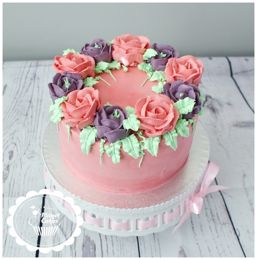 Buttercream Roses on Cake Central