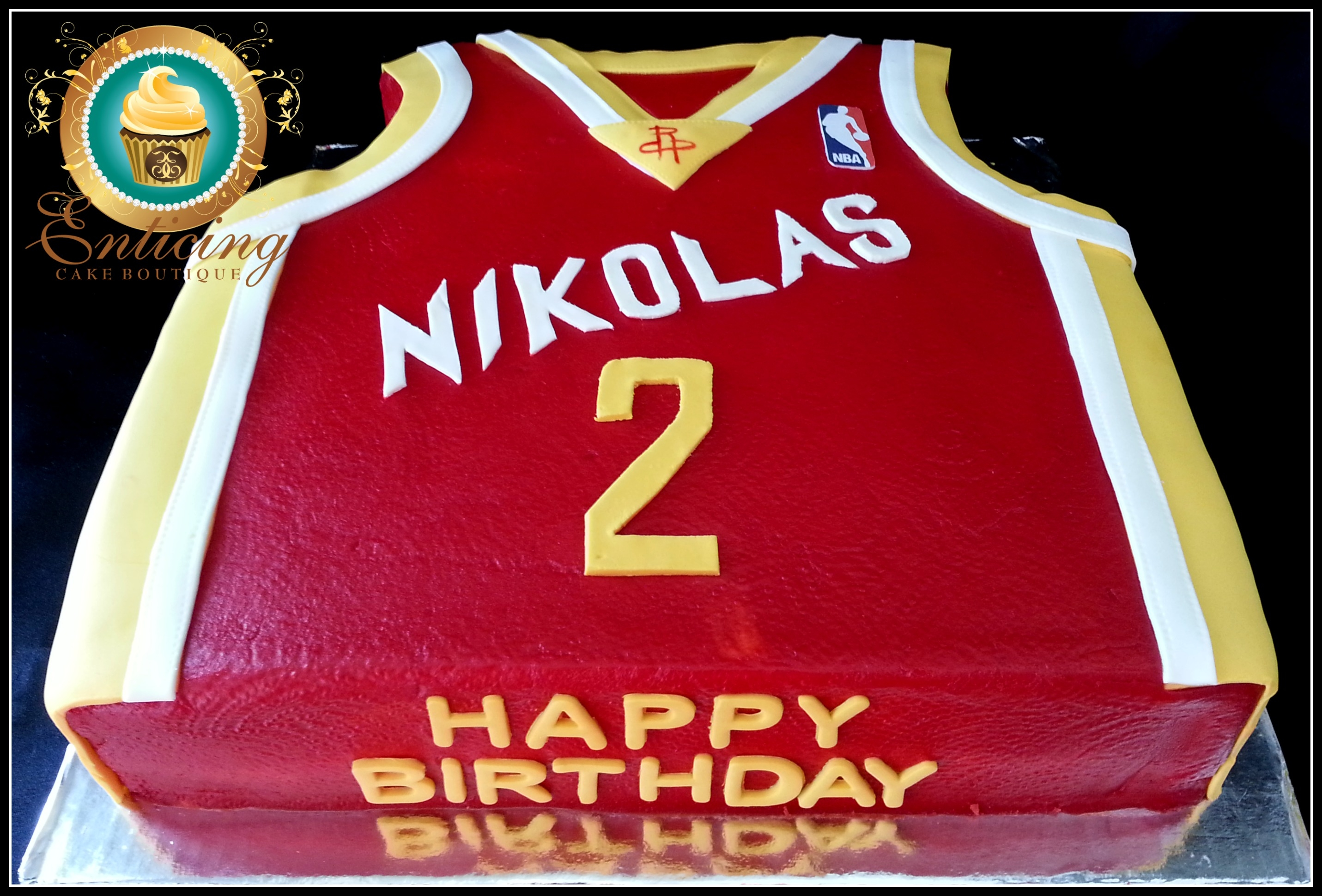Houston Rockets Jersey On Cake Central