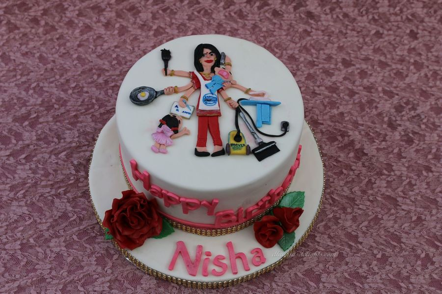 Cake Design For Moms : Multitasking Mom Cake - CakeCentral.com