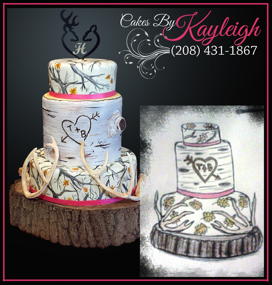 White Camouflage Wedding Cake Cakecentral