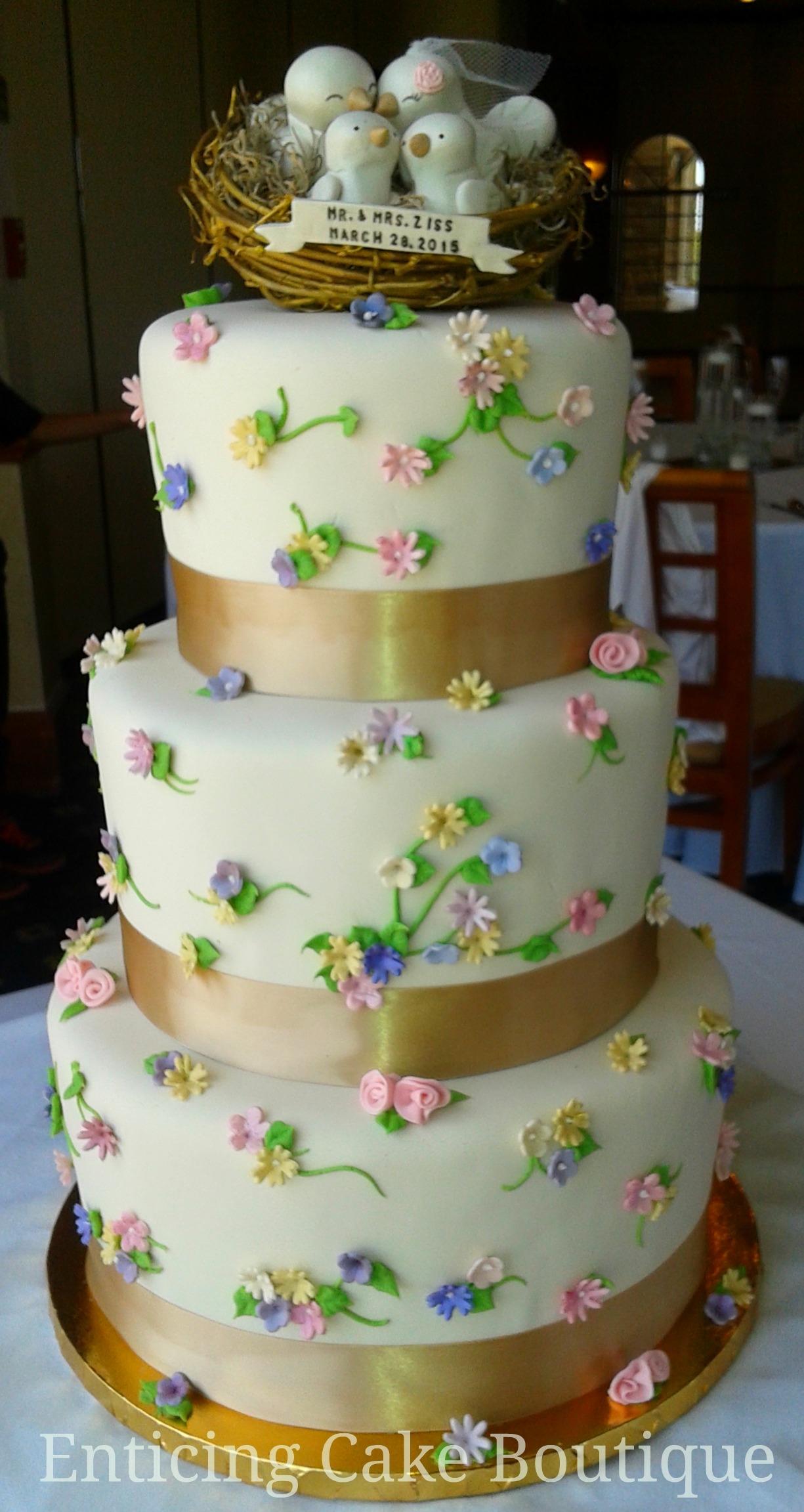 Love Birds Spring Wedding Cake Cakecentral Com