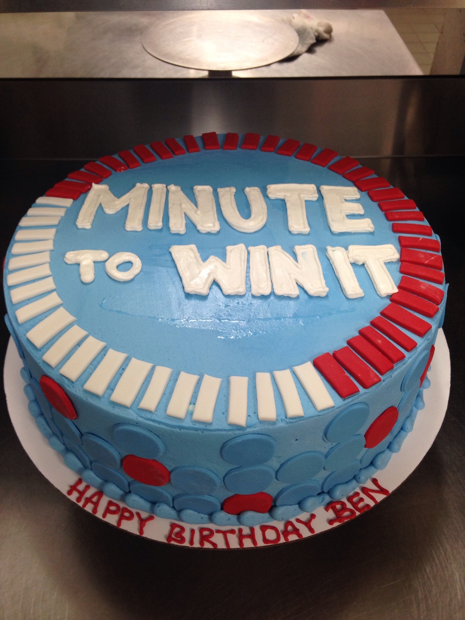 Minute To Win It Birthday Cake