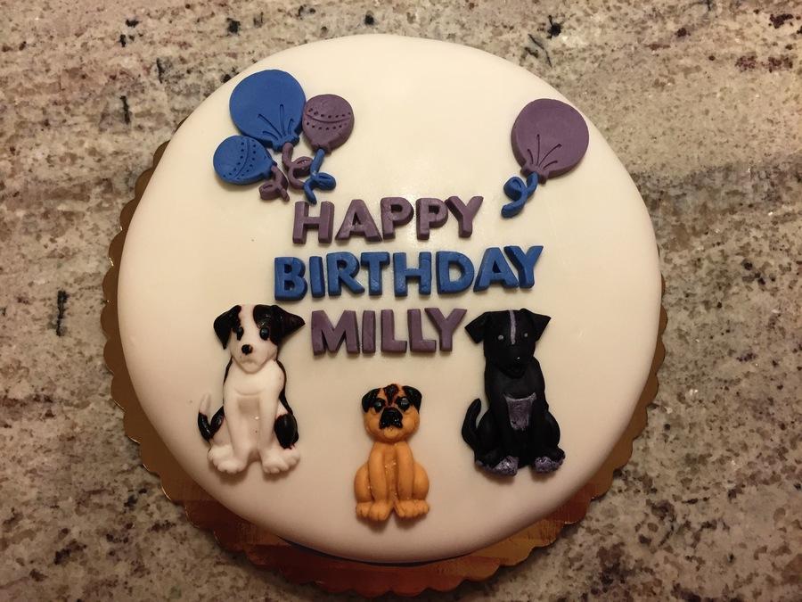 Dog Birthday Cake CakeCentralcom
