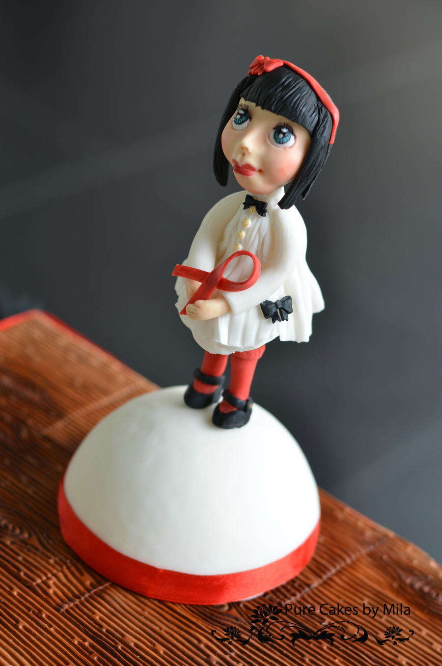"''Red Ribbon Doll"" on Cake Central"