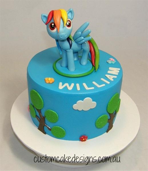 Rainbow Dash Cake Cakecentral Com