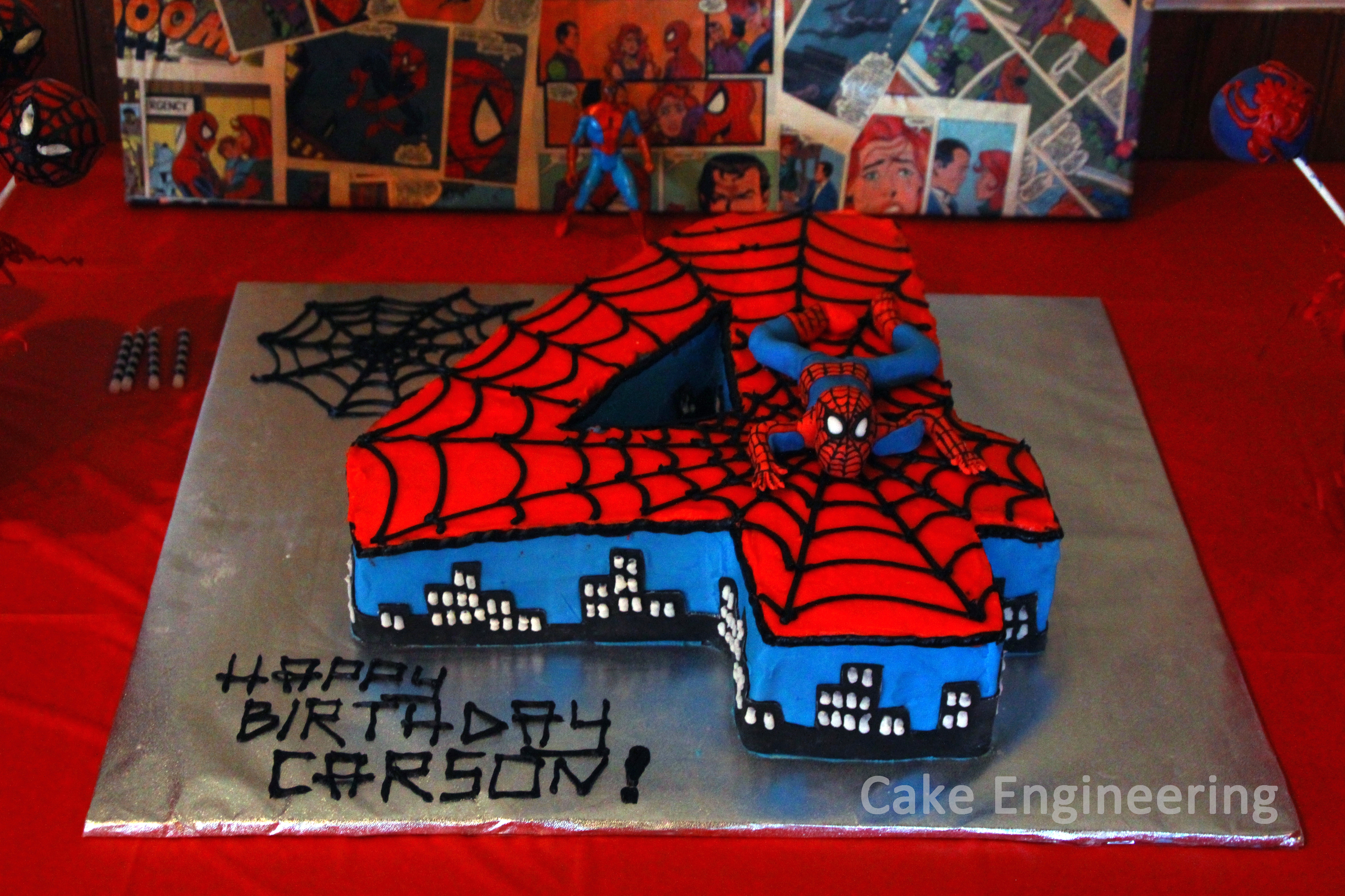 Cake Decorating Number Of Issues : Spiderman Number Cake - CakeCentral.com