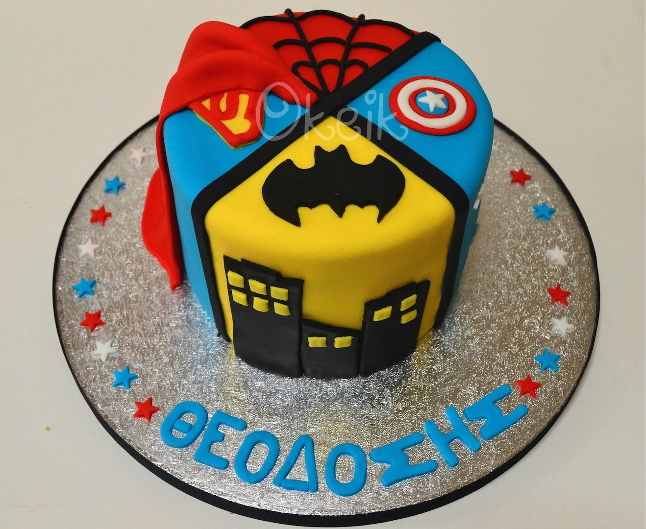 Superheroes Cake CakeCentral