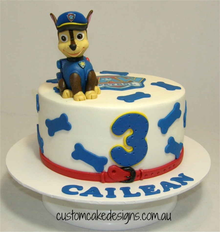 Paw Patrol Chase Cake on Cake Central