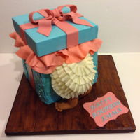 1St Birthday Cake Gift Box CakeRed Velvet w Cream cheese Buttercream