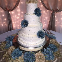 4 Tier Round Wedding Cake 4 tier round wedding cake with buttercream frosting