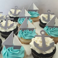 At Sea Cupcakes Sailboat and anchor cupcakes