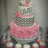 Baby Shower Cake I made this cake for a friend of mine who is about to have a baby girl.